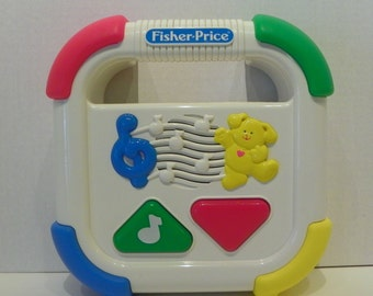 Vintage Fisher-Price First Touch Cassette Tape Player #1258 from 1992