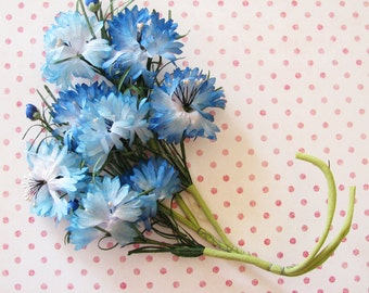 A Wonderful Shade of Blue...Delightful Vintage Millinery Flower Trim