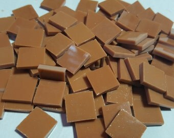 Mosaic Tiles 100 pcs BROWN ISH TAN Stained Glass Mosaic Tile
