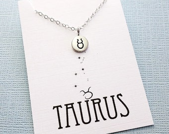 Taurus Jewelry | Tiny Taurus Necklace, Zodiac Jewelry, Zodiac Necklace, Celestial Jewelry, Astrology Jewelry, Zodiac Sign Necklace, Zodiac