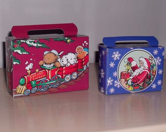 2  Vintage 1990's Christmas Candy Boxes Unused