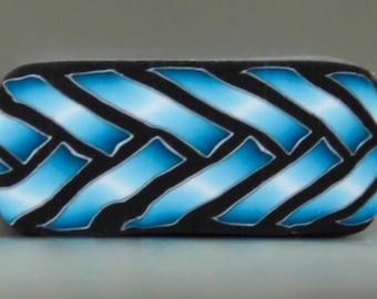 SMALL Blue Polymer Clay Braid Cane -'Fresh Start' series (16bb)