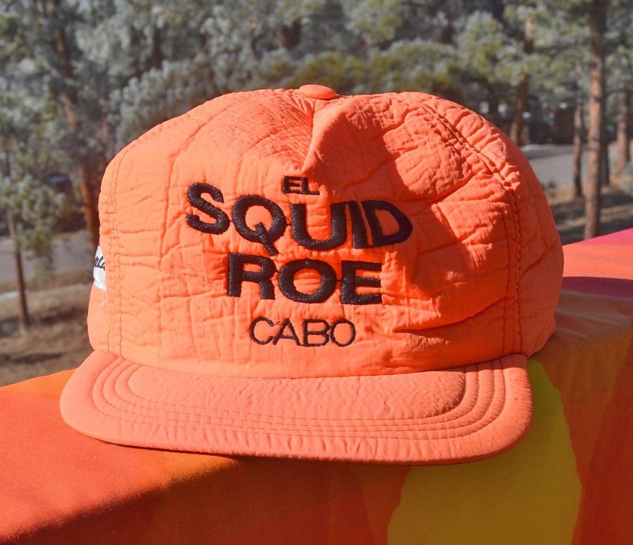 a64f9debb25f1 ... promo code vintage 80s baseball cap el squid roe cabo san lucas mexico  neon hat rockstar ...