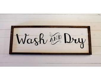 Wash and Dry SIGN