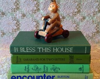 Vintage Book Stack,Green