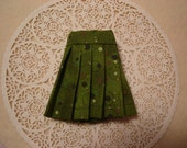 Blythe Green Circles Pleated Skirt for Pullip and Vintage Skipper Too!
