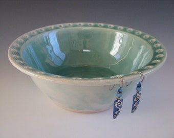 Pottery Earring Bowl / Ceramic Jewelry Bowl / Earring Organizer in Turquoise