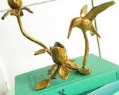 Super Tweet... Vintage Brass Hummingbird Candleholder Candle Holder Bird Home Decor