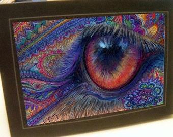 greeting card print of original art-eye of the beholder Zentangle