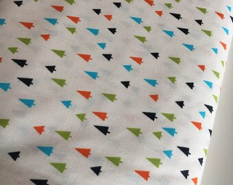 Tree fabric, Triangle fabric, Forest Fellows 2, Animal fabric, Kids room decor, Kids fabric, Whimsical, Trees in Wild, Choose the cut