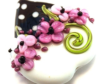 Ella Purple Polka Dot Focal Heart