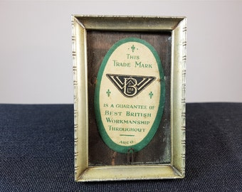 Vintage Silver Plated Miniature Picture Frame 1950's Mid Century