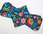"12.5"" Heavy - Folk Art Floral - Reusable Cloth Menstrual Pad (12HC)"