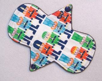 """7.25"""" Regular - Nutcrackers - Reusable Cloth Menstrual Pad (7MC)"""