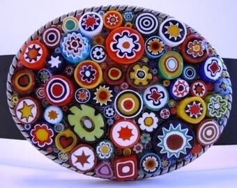 Original 3-D Millefiori Belt Buckle - Jada Belt Buckles