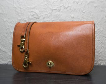 Vintage Coach Legacy Distressed British TanConvertible Penny Leather Crossbody Small Purse Bag 9635 0511171