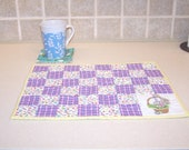 Easter place mat and coaster