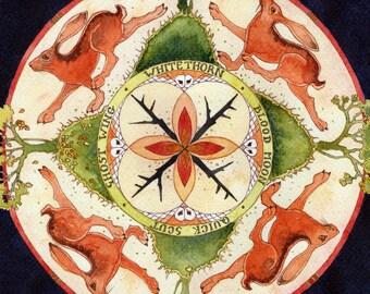 Blood Moon Mandala. Original painting