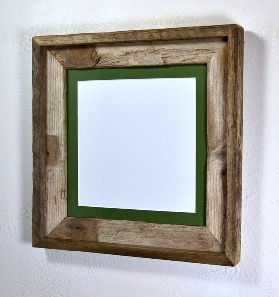 8x8 Mat In 10x10 Eco Friendly Reclaimed Wood Frame From