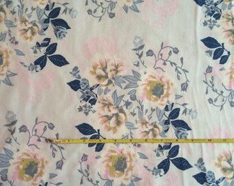 NEW Art Gallery Wild Posy Ethereal  on cotton Lycra  knit fabric 1 yard