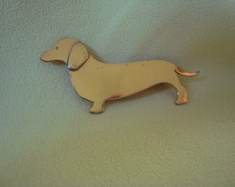 Sterling Dachshund Pin/Brooch