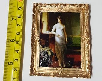 Framed painting Empire Lady - for 1:12 dollhouse