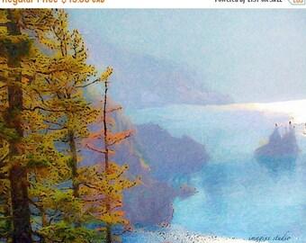 ON SALE 35% Nature, Modern Landscape, Springtime, Fine Art Print, Giclee Archival Print, Photomontage, Collage, Painted Photographs,
