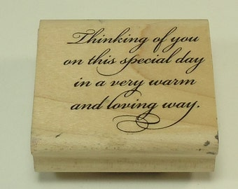 Thinking Of You Wood Mounted Rubber Stamp By Stampin Up Elegant Greetings