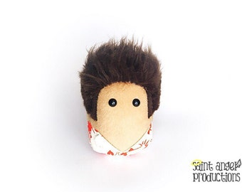 Kramer Look Alike Stuffed Plush Creation, Cosmo in Lobster Shirt Plushie, READY TO SHIP