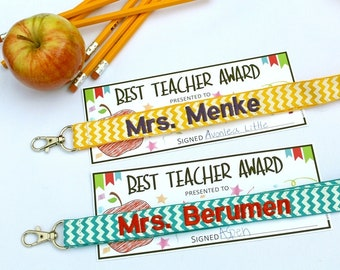 Personalized Lanyard in Chevron, Teacher appreciation, Teacher Gift