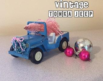 Vintage TONKA JEEP Headed Home for The Holidays!  Christmas in California - There's No Place Like Home!