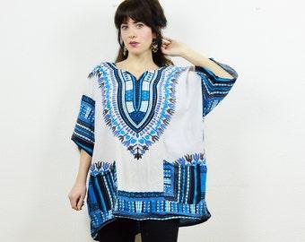 90s tribal tunic, tribal print kaftan, vintage tunic, tribal tunic, boho ethnic top, ethnic print tunic, boho kaftan, hippie tunic, festival