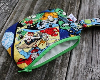Waterproof Mouth Guard Case Roller Derby Justice League Superheroes Zipper Closure Ready to Ship