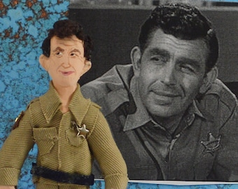 Andy Griffith Doll Miniature Hollywood Actor Vintage Television Collectible Figurine