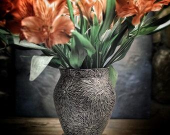 Night Dahlia Vase