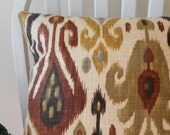 pillow covers cushion cover decorative pillow brown tan ikat zipper 16 18 20 22