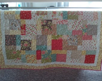Baby Quilt  44 x 45 inches