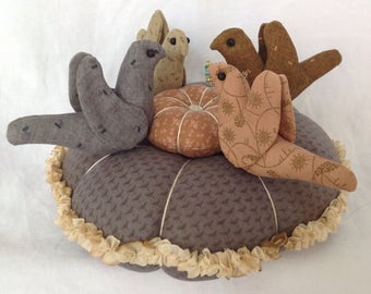 Large Four Bird Pincushion