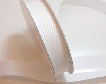 White Ribbon,  White Glitter Grosgrain Ribbon 7/8 inch wide x 25 yards, Offray Glitter Grosgrain Ribbon