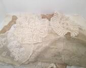 Destash Vintage Linens and Doilies 12 pieces