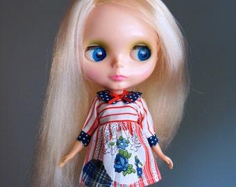 OOAK american beauty vintage dress for blythe