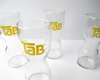 Vintage Tab Glasses Tumblers Set of Four - So Seventies Barware