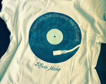 Stevie Nicks ~ Fleetwood Mac ~ Rhiannon t shirt  ~ stevie nicks style ~ super soft 100% cotton ~ players only love you when they're playing