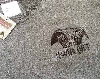 Beth Wade's Hound Cult Greyhound Port & Company Charcoal Heather Tee in size Medium