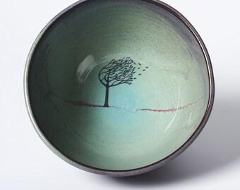 Green Windy Tree Bowl