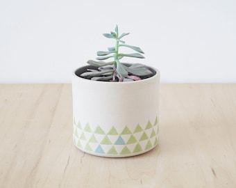 stoneware planter.