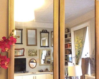 Pair of Vintage Gold Tall Wall Mirrors