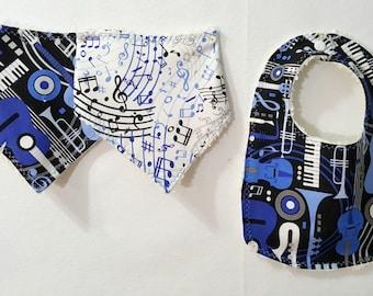 Bandana Bibdana Traditional Bib Musical Istruments Blue Black - Your Choice Pick a Style