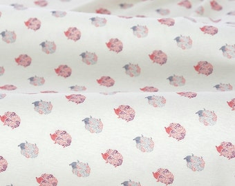 4481 - Hedgehog Cotton Jersey Knit Fabric - 66 Inch (Width) x 1/2 Yard (Length)