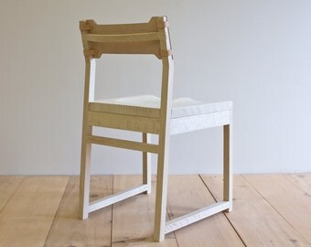 Tab Dining Chair - Bleached Quartsawn Oak - Leather Back